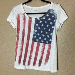3/$25 Forever 21 American Flag Shirt | Size Small